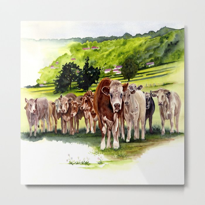 Herd It Throught the Grapevine Metal Print