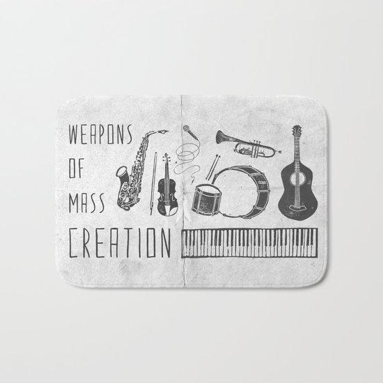 Weapons Of Mass Creation - Music (on paper) Bath Mat