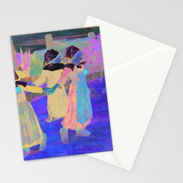 Breton Girls Dancing, Pont-Aven (1888) by Paul Gauguin Stationery Cards