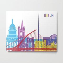 Dublin skyline pop Metal Print