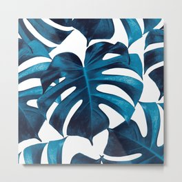 Tropical Monstera Leaves Dream #8 #tropical #decor #art #society6 Metal Print