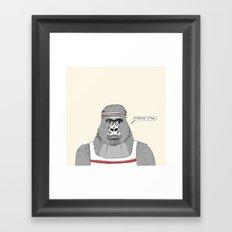 Gorillas love exercise Framed Art Print