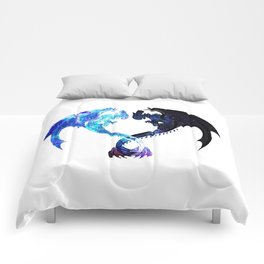 Dragon Heart (Toothless and Light Fury) Comforters