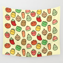 Cute fruit and veg Wall Tapestry