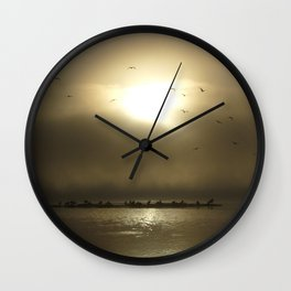 First step between Heaven and Hell Wall Clock