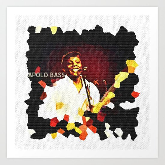 Apolo Bass, bassist and composer Art Print