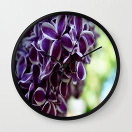 Lilacs. Wall Clock