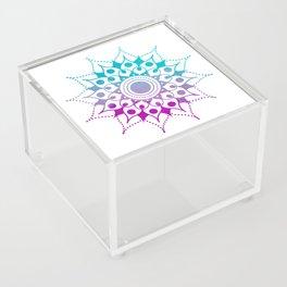 Mandala #2 (Purple Pink Turquiose) Acrylic Box