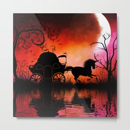 Drive in the night by carriage Metal Print