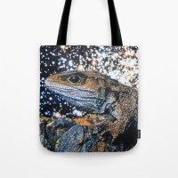 lizard Tote Bags featuring Lizard by John Turck