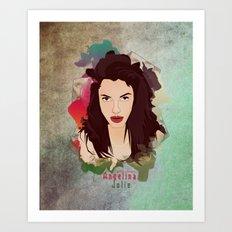 Aneglia Jolie Art Print