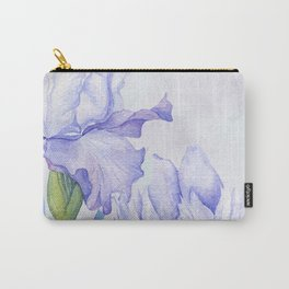Watercolor Iris Carry-All Pouch
