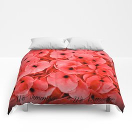 Veterans | Memorial Day | Remembrance Day | We Remember | Red Poppies | Nadia Bonello Comforters