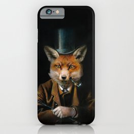 Victorian Fox In Top Hat iPhone Case