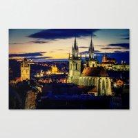 prague Canvas Prints featuring Prague by EclipseLio