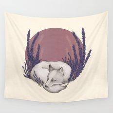 Fox & Lavender Wall Tapestry