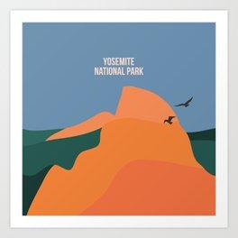 Limitless Boundaries In The Yosemite National Park Art Print