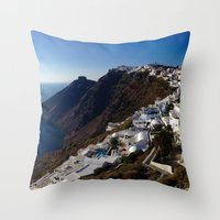 greg guillemin Throw Pillows featuring Caldera View - Greg Katz by Artlala for MSF Doctors Without Borders