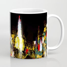 Light Show - Buildings at Night in New York City Coffee Mug
