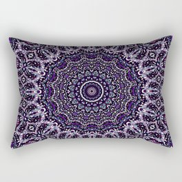 Purple, Gray, and Black Kaleidoscope 2 Rectangular Pillow