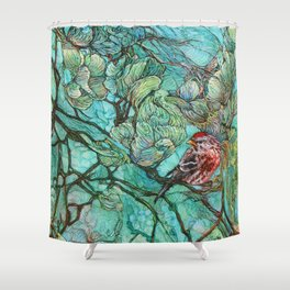 The Aquamarine Labyrinth (detail no. 2) Shower Curtain