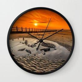 Blazing Sands Wall Clock