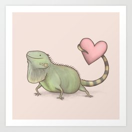 Iguana Love You Art Print