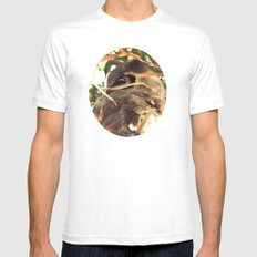 The Elusive Owl MEDIUM White Mens Fitted Tee