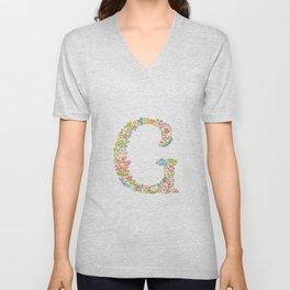 Alphabet G Unisex V-Neck