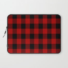 Red and black buffalo plaid pattern Laptop Sleeve