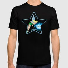 Classic Tinkerbell Black MEDIUM Mens Fitted Tee
