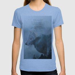 Wilderness Wolf & Poem T-shirt