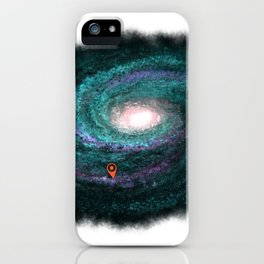 We are here turquoise iPhone Case