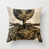 jack skellington Throw Pillows featuring jack skellington by TwistedPalace