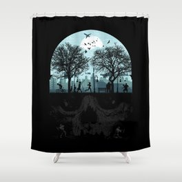 Urban Life Cycle Shower Curtain