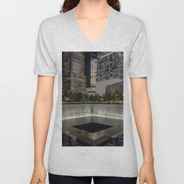 Footprint Fountain - NYC Unisex V-Neck