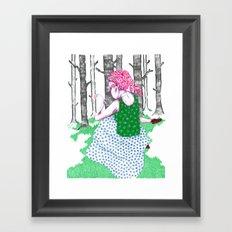 No Jardim Framed Art Print