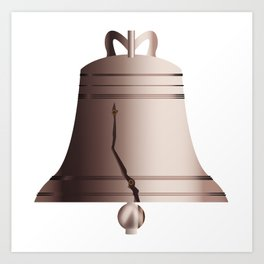 Liberty Bell With Crack Art Print