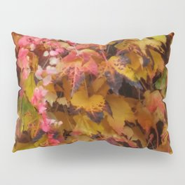 Red and Yellow Ivy Pillow Sham