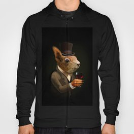 Sophisticated Pet -- Squirrel in Top Hat with glass of wine Hoody