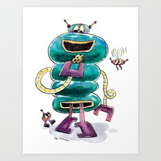 The Cookie-Powered Robot is Fueling Up Art Print