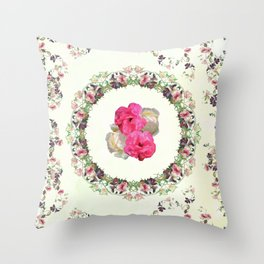 Nature is a temple of flowers Throw Pillow
