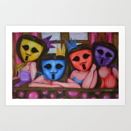 The Ghostesses Of Caprice Special Edition Art Print Art Print
