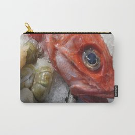 Red Fish Shrimp Market Carry-All Pouch
