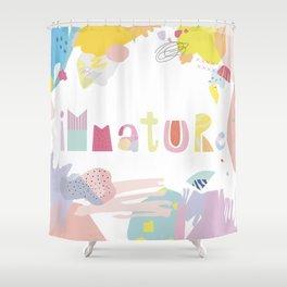 Immature Shower Curtain