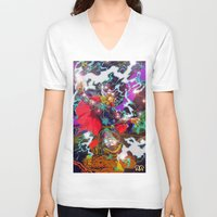thor V-neck T-shirts featuring Thor by Artless Arts