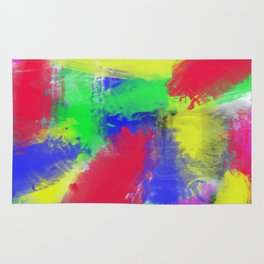 Abstract colorful pattern Rug