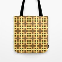 yellow pattern Tote Bags featuring Pattern Yellow by BobbyK