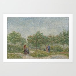 Garden with Courting Couples: Square Saint-Pierre Art Print