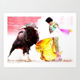 España : Torero ( Spain : Bullfighter ) Art Print